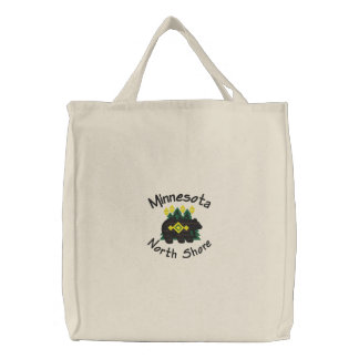 North Shore Bear Embroidered Tote Bag