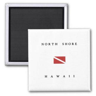 North Shore Hawaii Scuba Dive Flag Fridge Magnets