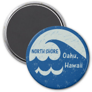 North Shore, Oahu, Hawaii 7.5 Cm Round Magnet