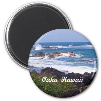 North Shore on the island of Oahu in Hawaii 6 Cm Round Magnet