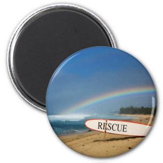 North Shore Rainbow 6 Cm Round Magnet