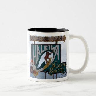 North Shore Sign Two-Tone Coffee Mug