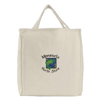 North Shore Walleye Embroidered Tote Canvas Bags