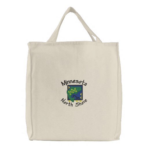 North Shore Walleye Embroidered Tote Embroidered Tote Bags