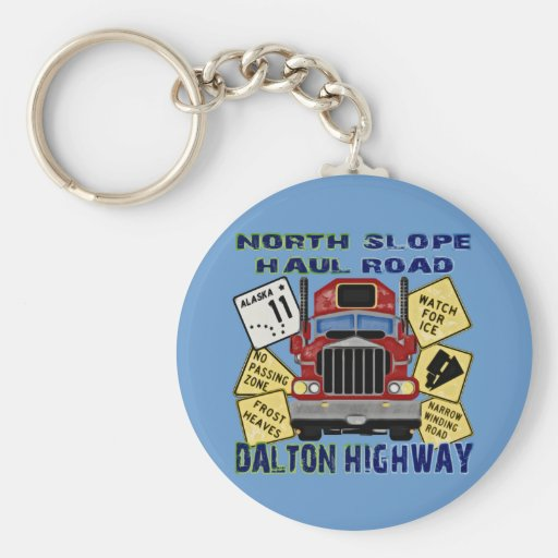 North Slope Haul Road Dalton Highway Keychain