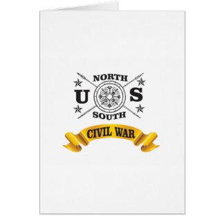 north south civil war seal crest card