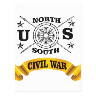 north south civil war seal crest postcard