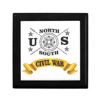 north south civil war seal crest small square gift box