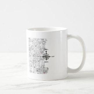 North South East & Westie Dog Coffee Mug