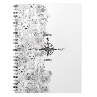North South East & Westie Dog Notebook
