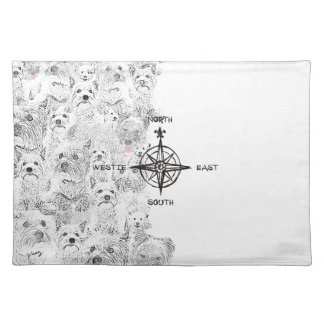 North South East & Westie Dog Placemat