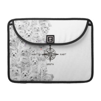 North South East & Westie Dog Sleeve For MacBooks