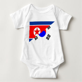 north south korea half flag country symbol baby bodysuit