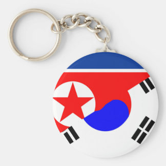 north south korea half flag country symbol key ring