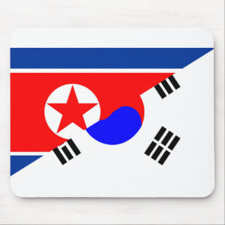 north south korea half flag country symbol mouse pad