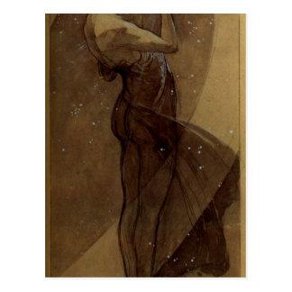 North Star by Alphonse Mucha Postcard