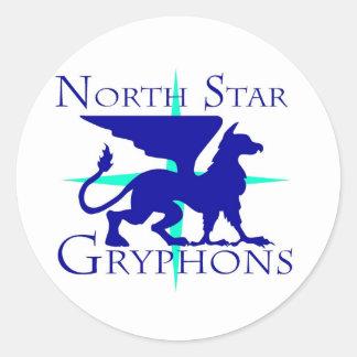 North Star Gryphons Round Sticker
