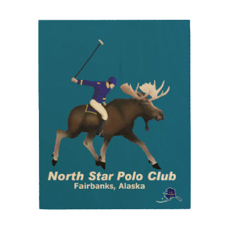 North Star Polo Club Wood Wall Art