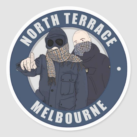 North terrace melbourne sticker