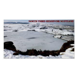 North Third Reservoir, Scotland Poster