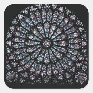 North transept rose window square sticker