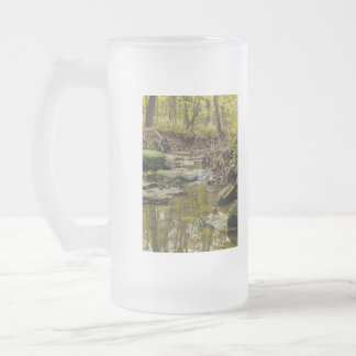 North Wears Creek Frosted Glass Beer Mug
