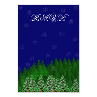 North Woods Winter R.S.V.P. 9 Cm X 13 Cm Invitation Card