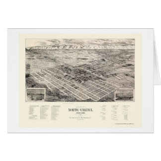 North Yakima, WA Panoramic Map - 1889 Card