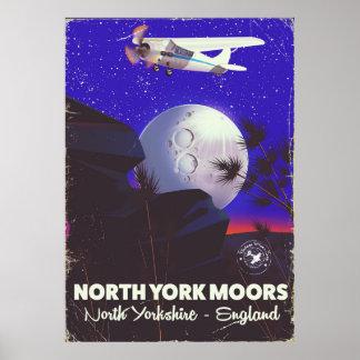 North York Moors England travel poster