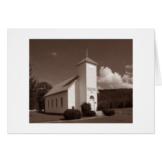 Northcutts Cove LDS Church (Sepia version) Card