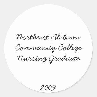 Northeast Alabama Community College Nursing Gra... Classic Round Sticker