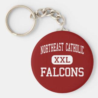 Northeast Catholic - Falcons - High - Philadelphia Basic Round Button Key Ring