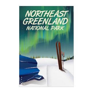 Northeast Greenland travel poster Acrylic Wall Art