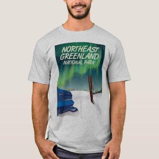 Northeast Greenland travel poster T-Shirt