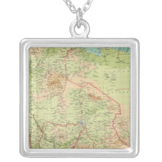 Northern Africa with shipping routes Silver Plated Necklace