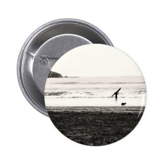 Northern California Beach Scene Buttons