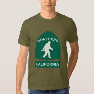 Northern California Bigfoot Sign (vintage look) T Shirts