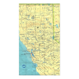 Northern California Map Business Card Templates