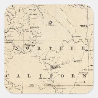 Northern California Square Sticker