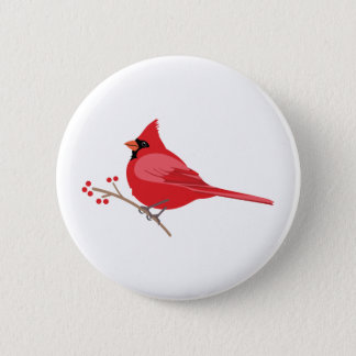 Northern Cardinal 6 Cm Round Badge