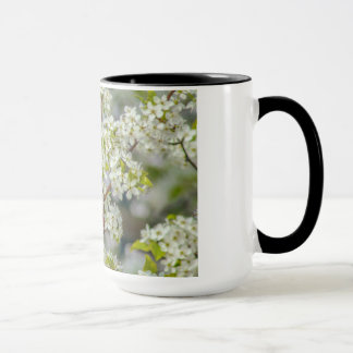 Northern Cardinal In Spring Blooms Mug