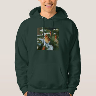 Northern Cardinal in tree, Illinois Hoodie