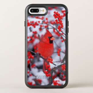 Northern Cardinal male, Winter, IL OtterBox Symmetry iPhone 8 Plus/7 Plus Case