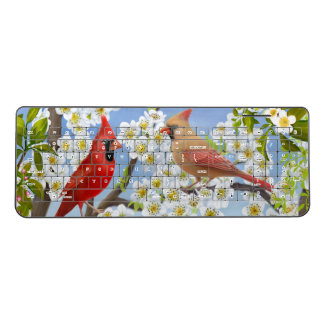 Northern Cardinal Red Birds Wireless Keyboard