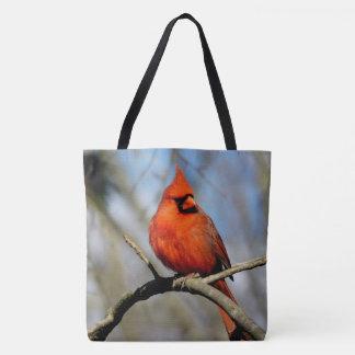 Northern Cardinal (Spring) Printed Tote Bag