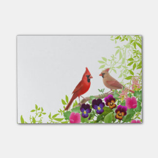 Northern Cardinal Wild Birds Post-it Notes
