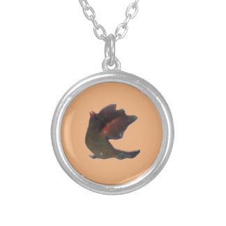 Northern Cardinal Wings Up Silver Plated Necklace