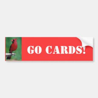 Northern Cardinals Go Cards! Bumper Sticker