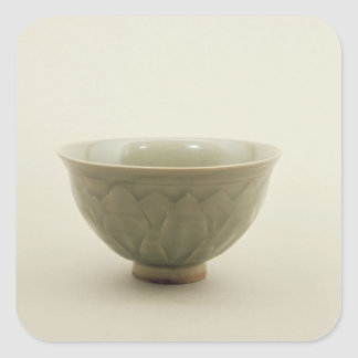 Northern celadon bowl square sticker