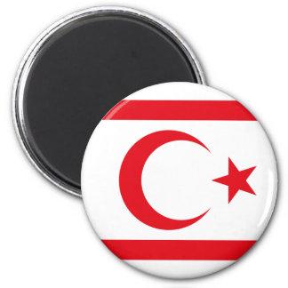 northern cyprus 6 cm round magnet
